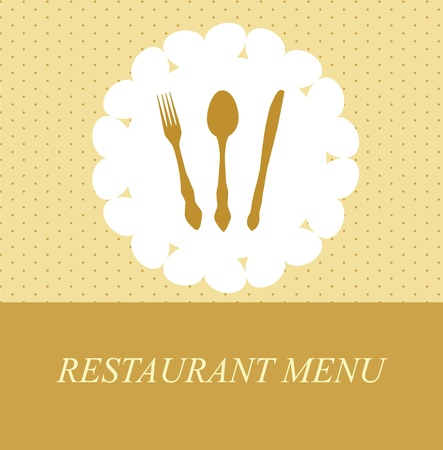 The concept of Restaurant menu. Vector