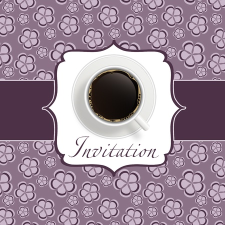 coffee invitation background Stock Vector - 12833473