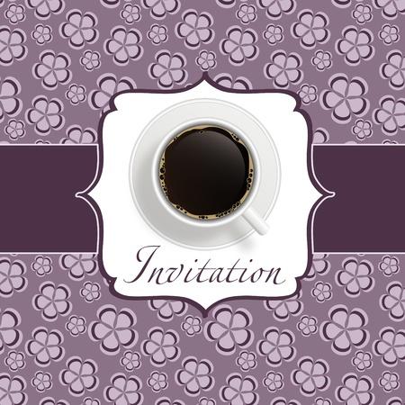 coffee invitation background Stock Vector - 12833473