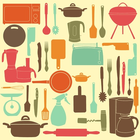 illustration of kitchen tools for cooking Stock Vector - 12833282