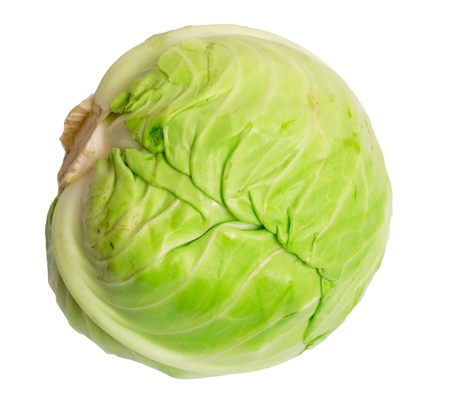 Fresh cabbage isolated on white background Stock Photo - 12833365