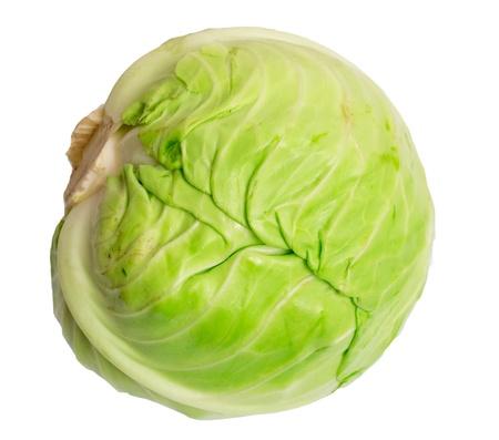 Fresh cabbage isolated on white background Stock Photo - 12833365