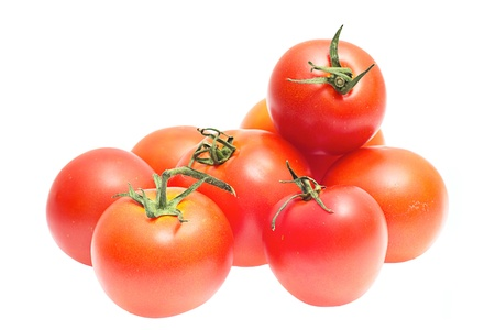 Red tomatoes isolated on a white background Stock Photo - 12833376