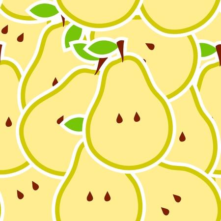 Pears illustration seamless pattern Stock Vector - 12833276