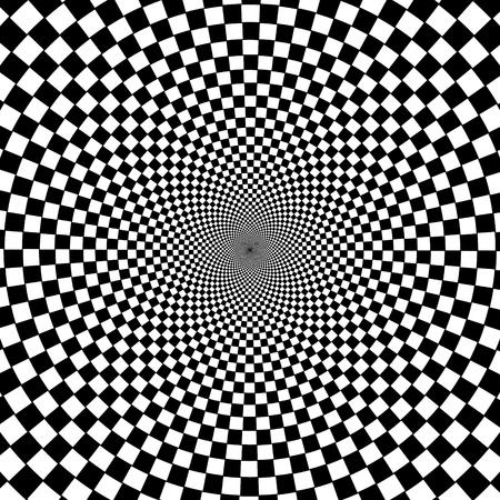 Noir et blanc, fond hypnotique.