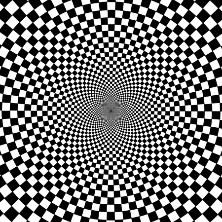 Black and white hypnotic background. Stock Vector - 13008286