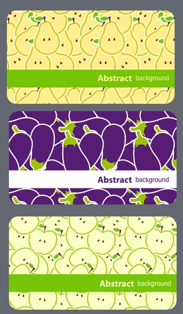 Vector fruit business cards set Vector