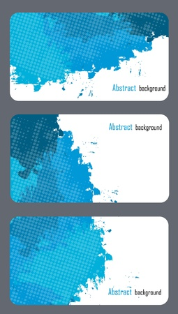 gift accident: Business card templates with abstract background Illustration