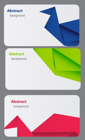 Business Card Template. Abstract bsckground Vector