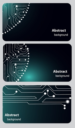 computer memory: Busitess card templates with Circuit board