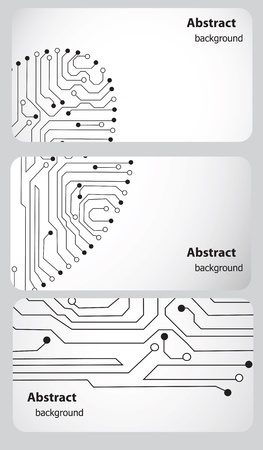 Busitess card templates with Circuit board Stock Vector - 13008281