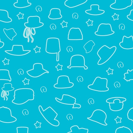 peaked cap: Wallets collection hand drawn seamless pattern  background.