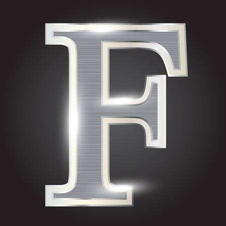letras cromadas: Plata met�lica fuentes ilustraci�n vectorial