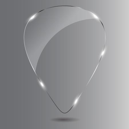 Glass Speech Bubble Stock Vector - 13196344