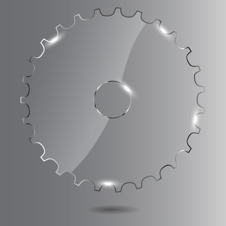 Glass gear Vector