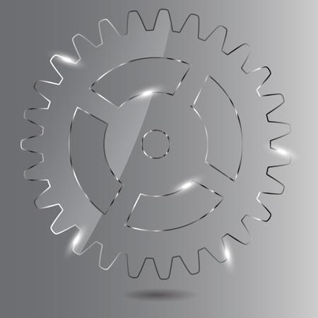Glass gear vector illustration Vector