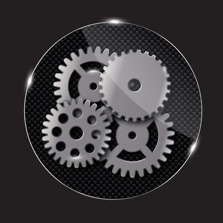 repairing: Repairing glass button, vector illustration Illustration