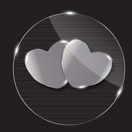 Heart glass Button vector illustration Stock Vector - 13229525