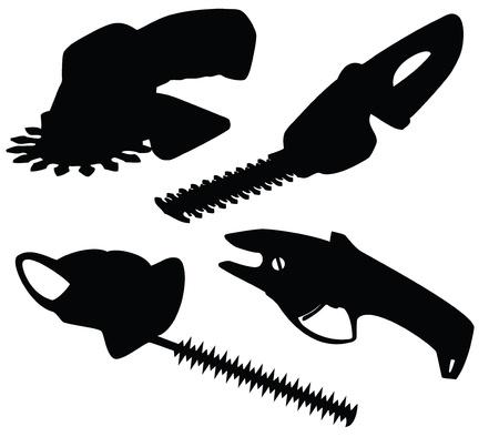 secateurs: Set of vector garden secateurs