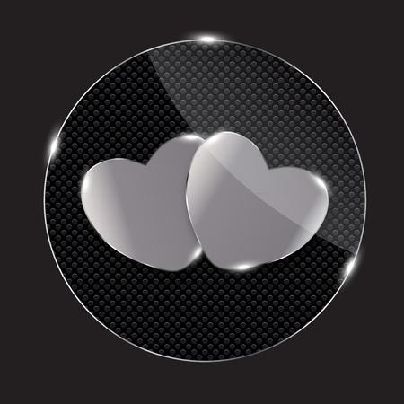 inet: Heart glass Button vector illustration Illustration