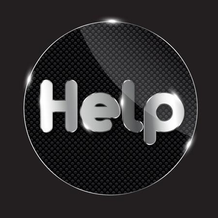 glass button, vector illustration Stock Vector - 13229587