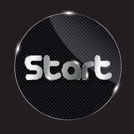 esc: glass button, vector illustration
