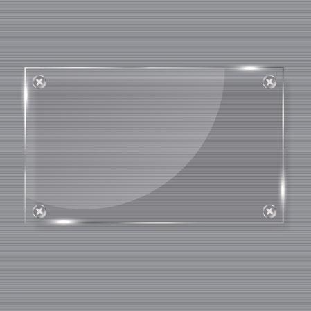 realistic glass frames  Vector illustration Stock Vector - 13276068