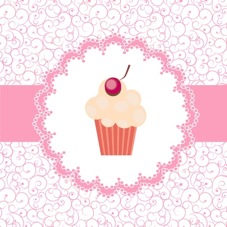 baby cupcake: Card with a cupcake Illustration