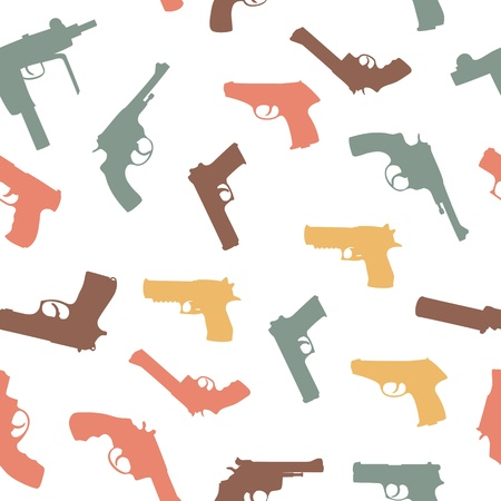 guns set seamless pattern Stock Vector - 13318263