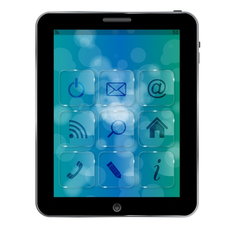 Abstract Tablet pc  with icons Vector