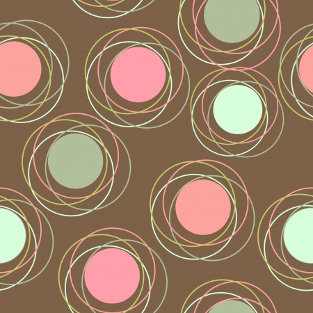 작은 숲: 원활한 패턴 벡터 일러스트 레이 션 일러스트