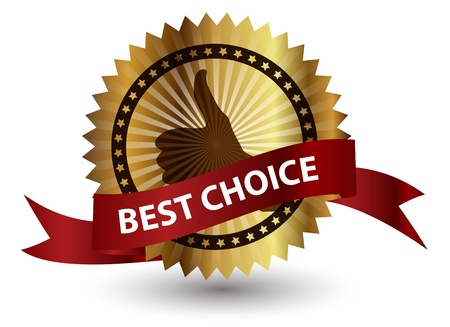 Vector best choice  label with red ribbon Stock Vector - 13549139