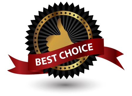 Vector best choice  label with red ribbon Stock Vector - 13549135
