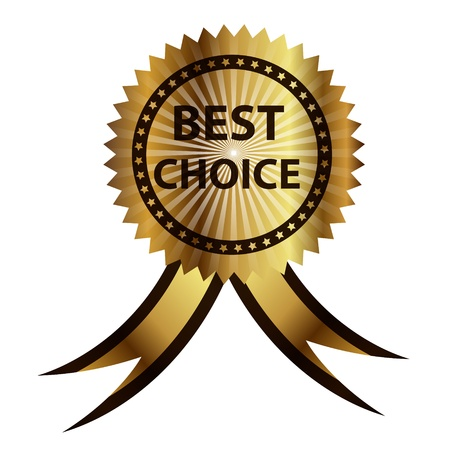 Vector best choice  label with red ribbon. Stock Photo - 13625451
