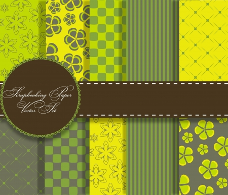set of beaautiful vector paper for scrapbook Stock Photo - 13625479