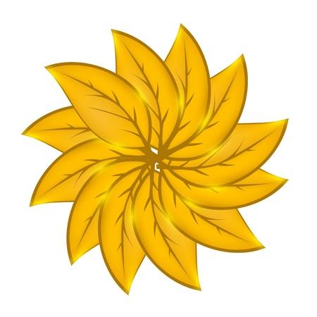 Autumnal leaf environmental background.illustration Stock Vector - 13657563