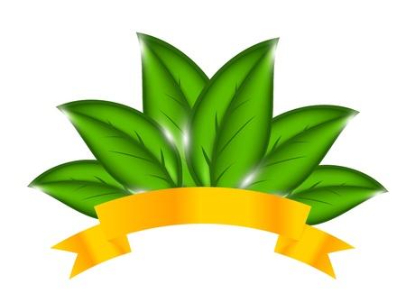Environmental background with plant.illustration Illustration