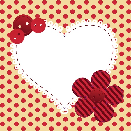 white patches: valentines day greeting card Illustration