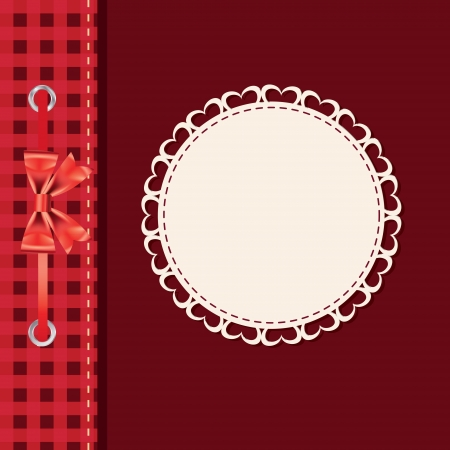 vintage frame with bow Stock Vector - 13758550