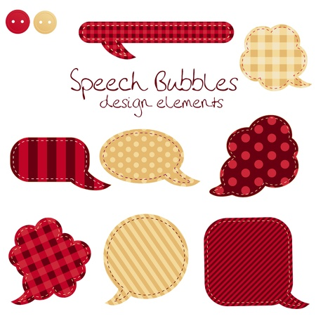 old diary: set of different speech bubbles,  design elements