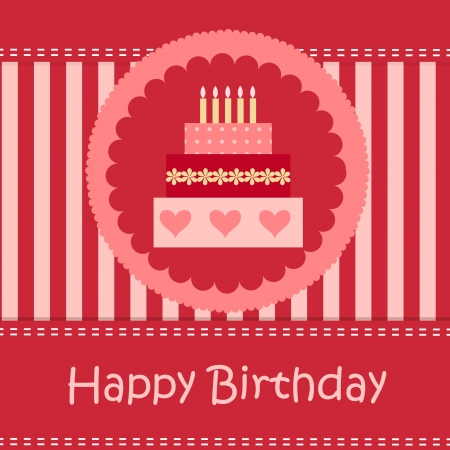 Birthday card with copy space Stock Vector - 13758537