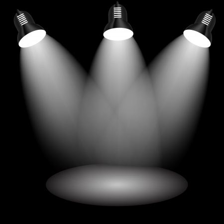 Background with lighting lamp  Empty space for your text or object Vector