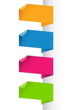 Paper origami speech bubble Stock Vector - 13883697