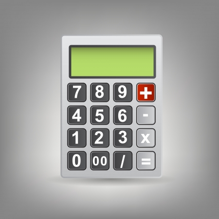 calculator icon with gray buttons Stock Vector - 13900127