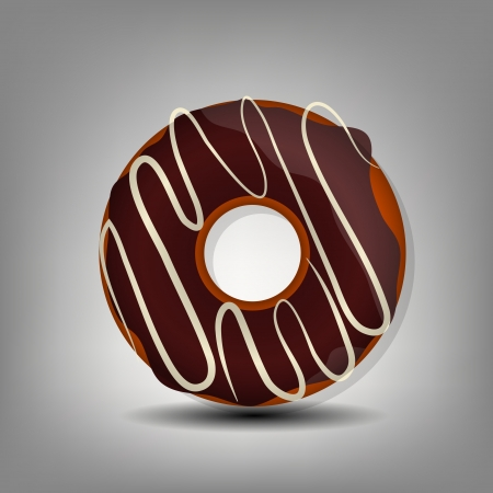 застекленный: пончик значок Иллюстрация