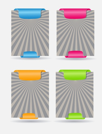 Set of trendy web banners Vector