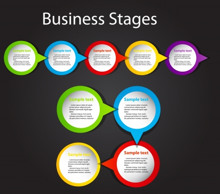 business process: concept of  business process improvements chart illustration