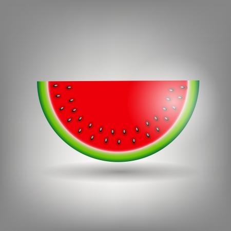 watermelon icon vecotr illustration Stock Vector - 13968342