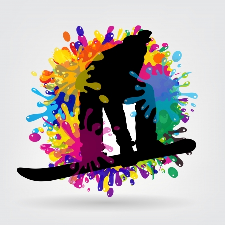 ean: snowboarding background