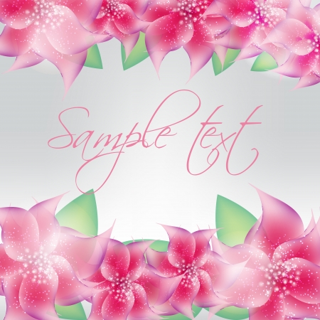 Stylish floral background vector illustration Vector